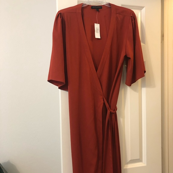 Banana Republic Dresses & Skirts - Dark orange wrap dress